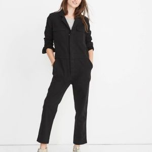 NEW Madewell BLACK Slim Coverall Jumpsuit SMALL!